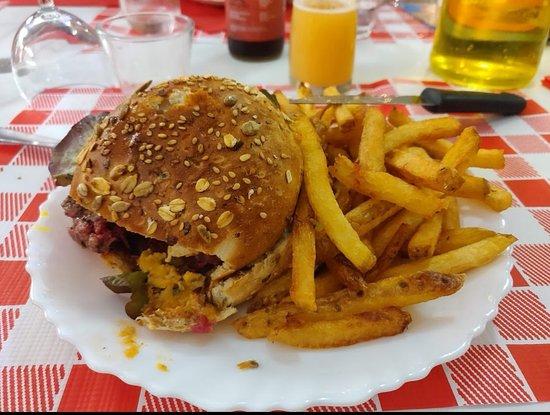 Burger aulus et frites maison