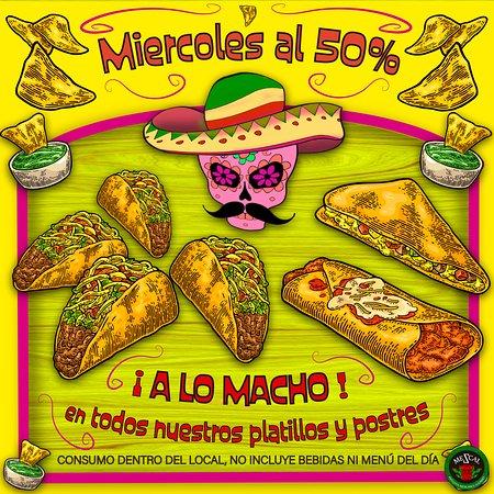 todos nuestros platillos, tacos, burritos, quesadillas, flautas, antojitos y postres artesanales hoy miércoles en Mezcal.  #tacosdepastor #tacos #burritos #restaurantemexictano #cocinamexicanamadrid