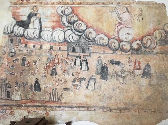 Urcos, Perù: Detalle, pared del baptisterio templo de Ccatcca.