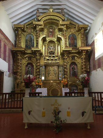 Urcos, Perù: Retablo o altar principal del templo de Ccatcca.