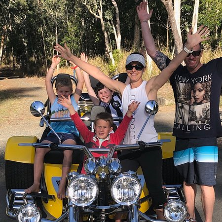 Discovery Parks - Airlie Beach: Fun for all the Family.  We can split a Tour, so all the family can have a ride, no one misses out then!!!!