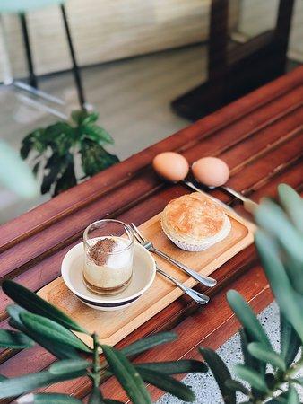 Day Saigon: Egg coffee and home-made stuffed pastry