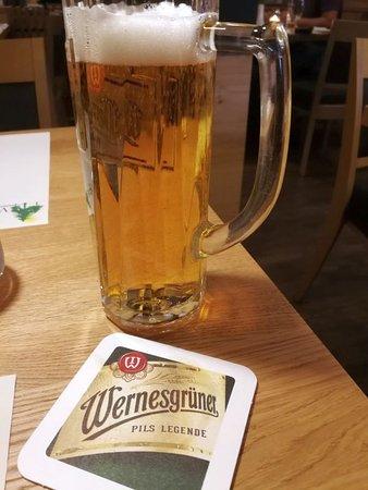 Wernesgrüner, famous local beer