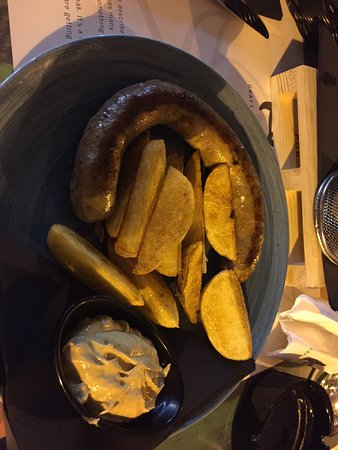 Home made sausage in beer