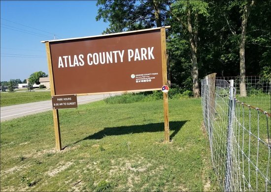 Quaint and quiet county park located across the street from the Goodrich High School and just west of the Village of Goodrich. Nice hiking trails with views of woods and water. Locate at: Atlas County Park 9139 Hegel Rd, Goodrich, MI 48438