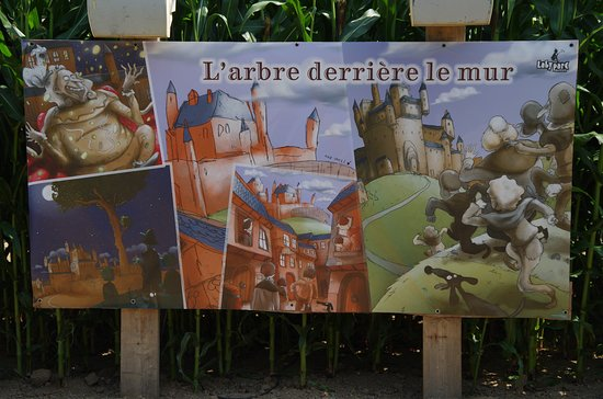 Mosles, Francúzsko: Un des panneaux avec conte et questions