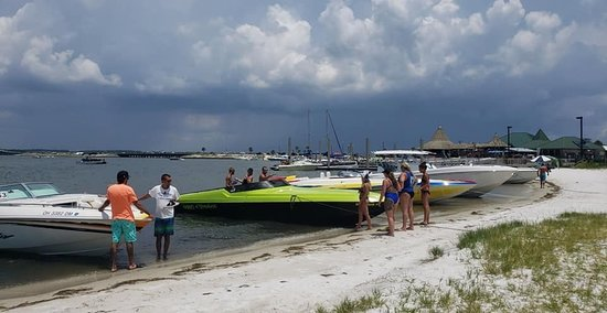 The boat beached right in front of Juana's!