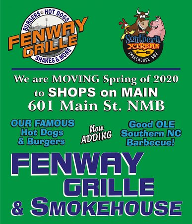 Spring of 2020! We are moving to Main Street in North Myrtle Beach! Same great menu with some new Grille items and adding our Smokehouse Favorites: pulled pork bbq and brisket!!!