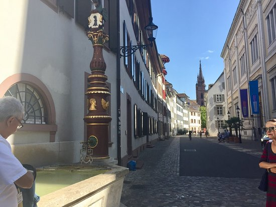 Stories of Basel's Old Town: One of the many alleys visited