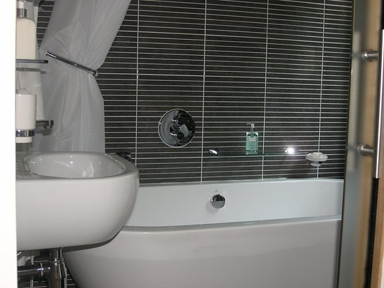 Rhu, UK: The Lomond guest room En-suite with luxury bath and shower.