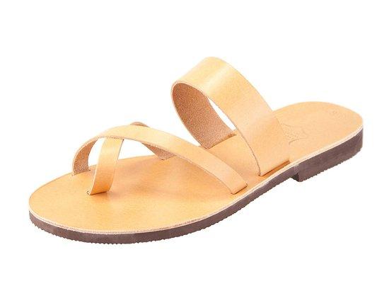 Parga, Grecja: Handmade Greek Leather sandals Iosif natural