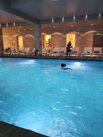 Indoor swimming pool at the spa.
