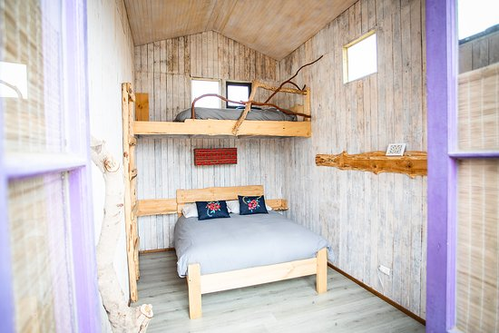 Puertecillo, Chile: Habitación Matrimonial con cama adicional en altillo