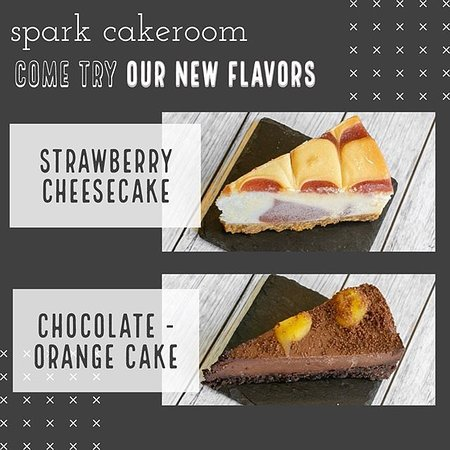 Try one of our new cakes: Vegan and gluten-free chocolate - orange cake and strawberry cheesecake. Delicious 😋