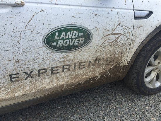 Land Rover Experience: It was beautifully clean and bright white when we started...
