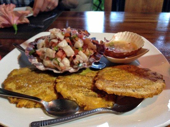 Kalaluna Bistro': Ceviche and tostones