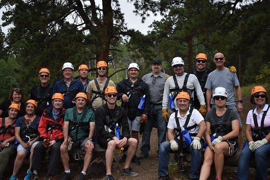 Rocky Mountain Zipline Adventure: ProTeam team building event at Denver Adventures in Conifer CO