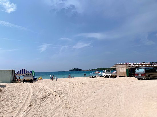 海水浴場!