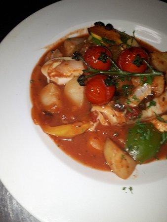 Felpham, UK: Mediterranean baked cod