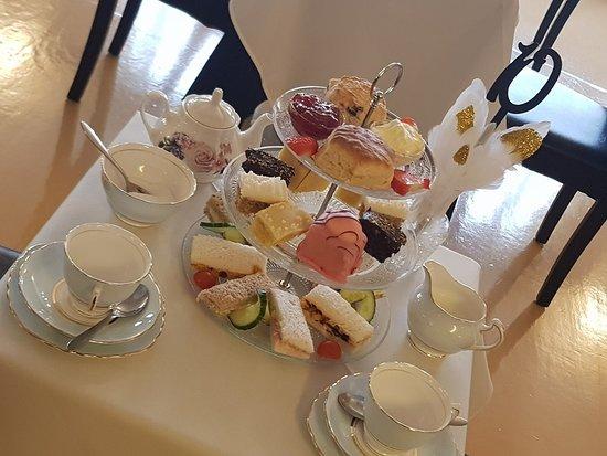 Aj's: Afternoon tea on fine bone china