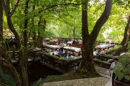 Perucac, เซอร์เบีย: Restaurant Terrace