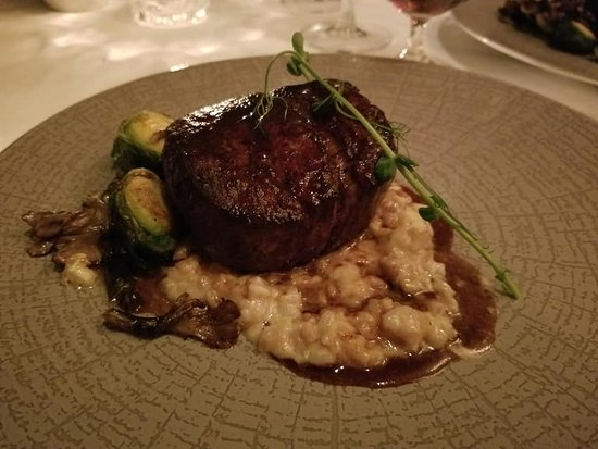 Beef Tenderloin with Risotto & Brussels Sprouts