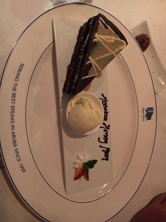 Chocolate layered cake with Bailee's shot....yummy!