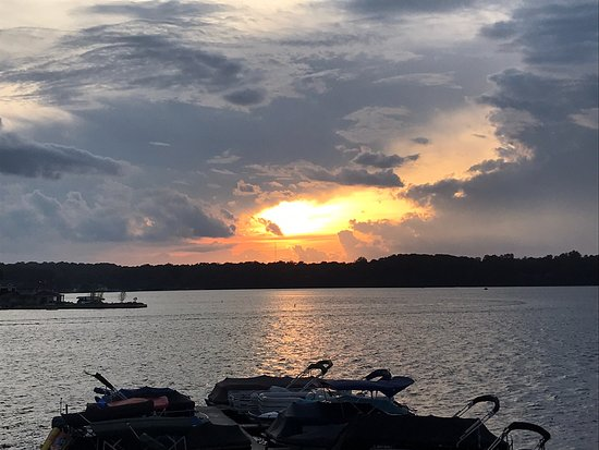 La Porte, IN : Sunset over Pine Lake