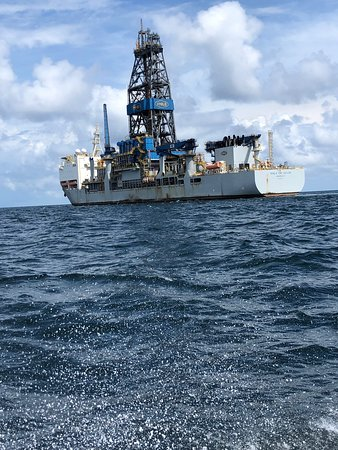 Another great day of diving the oil rigs.