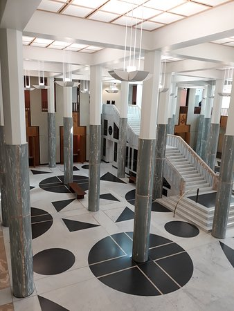 Marble entrance foyer