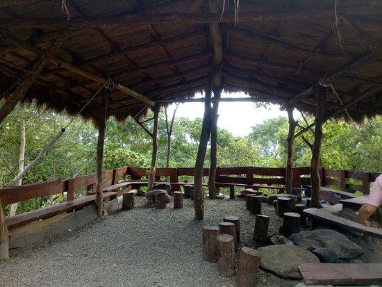 用餐地點很寬敞,四周風景很優美