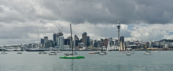 Chauffeured Tours: Four season in day Auckland City Private Tour go sailing on a real America's Cup boat ©ChauffeuredToursnz North Island New Zealand tour