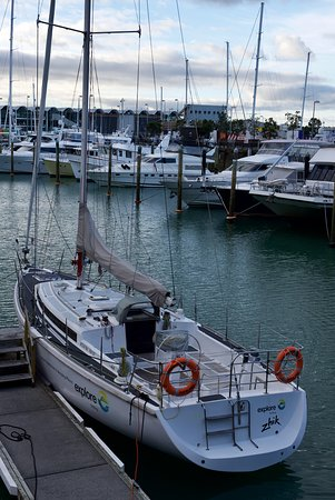 Chauffeured Tours: Sailing adventure in Auckland on America's & Lipton Cup tours Auckland City Private Tour go sailing on a real America's Cup boat ©ChauffeuredToursnz North Island New Zealand tour