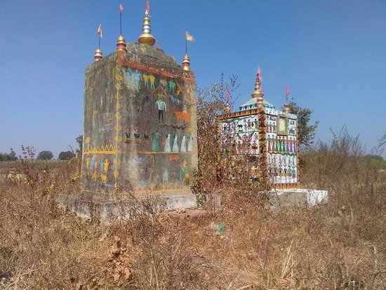 Bastar District, Índia: This is memory pillars.