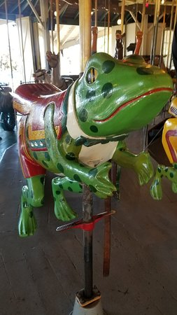 The Balboa Park Carousel has a lot of hand-carved wooden animals besides horses!