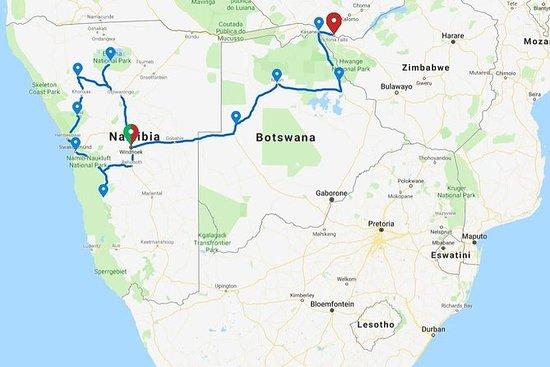 17天纳米比亚,奥卡万戈三角洲和维多利亚瀑布适应冒险