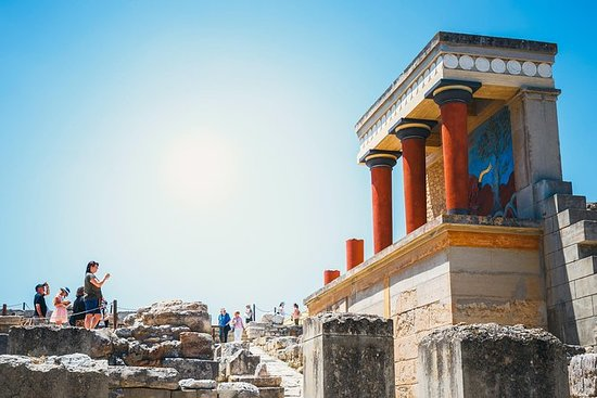 Palast von Knossos: Im Voraus...