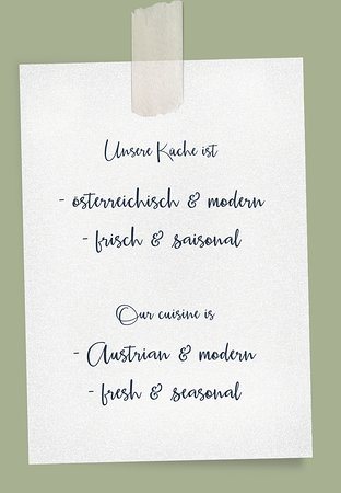 Unsere Küche / Our cuisine