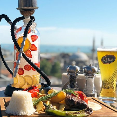Lotiz Lounge & Hookah with Istanbul View Panoramic Restaurant.
