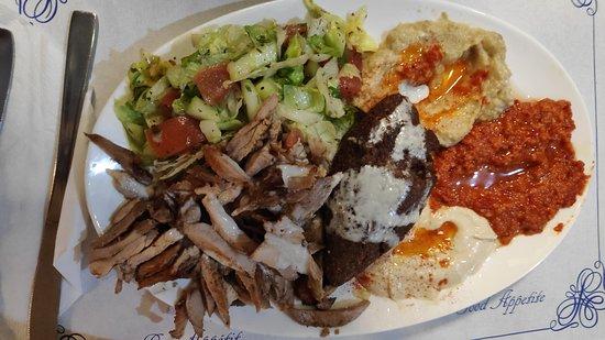 Plato combinado de Shawarma