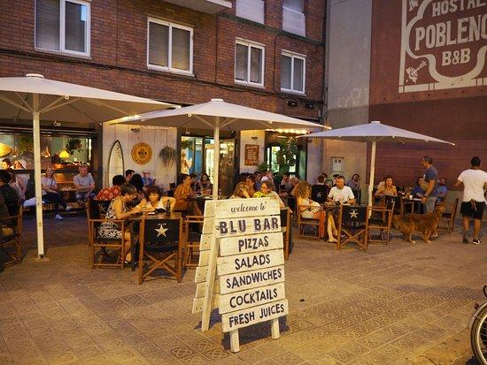 Blu Bar Poblenou. Terraza. Rambla de Poblenou 11