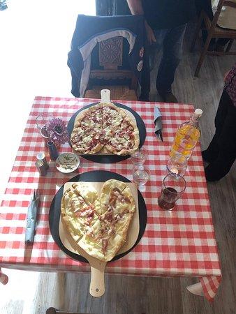 Gorron, Francja: A romantic meal with love heart pizza