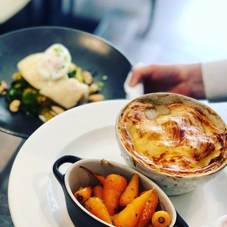 Chicken pie 🥧 and haddock kedgeree 🐟 #lunch #foodbybredamurphy