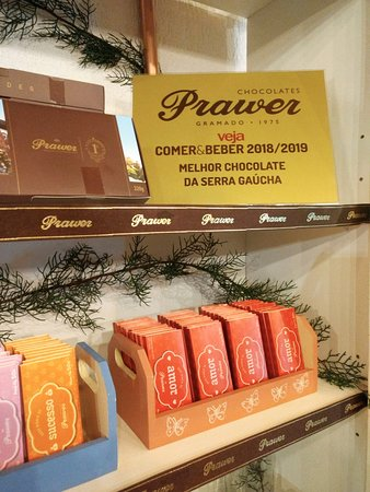 Chocolates Prawer. Eleito o melhor da Serra Gaúcha.
