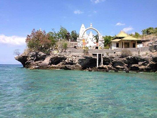 Ganesha temple at menjangan island
