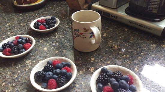 Beech Tree Inn- Brookline: Berries with breakfast