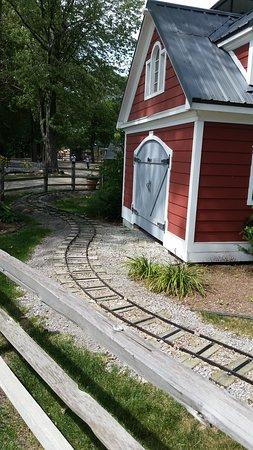 Linton enchanted, train tracks and pond