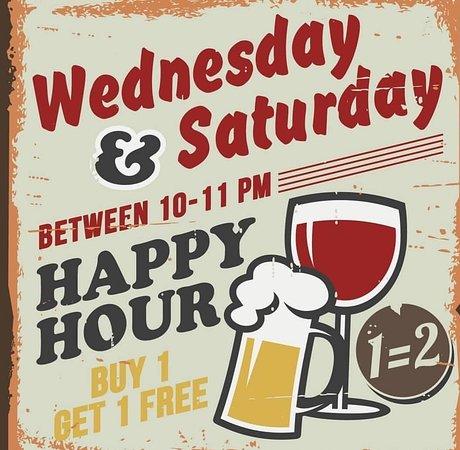 Eetcafe Concordia: Wednesday&Saturday happy hour between 10-11PM-buy 1 get 1 free