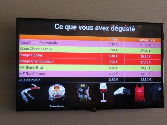 Civray-de-Touraine, ฝรั่งเศส: Degustatie