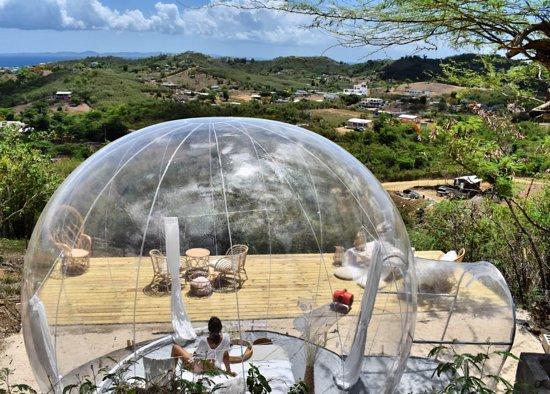 Bubble tent at Elnido Vieques Puerto Rico